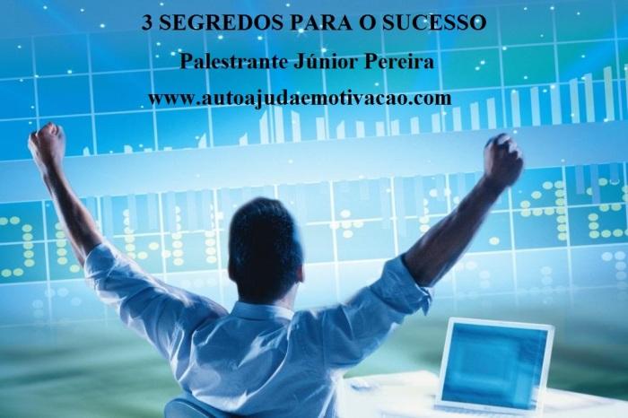 3 segredos para ter sucesso em qualquer negócio. Por Palestrante Júnior Pereira. Auto ajuda e Motivação.