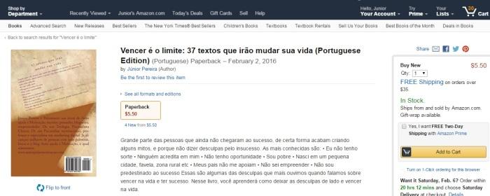 Vencer é o limite. Palestrante Júnior Pereira.